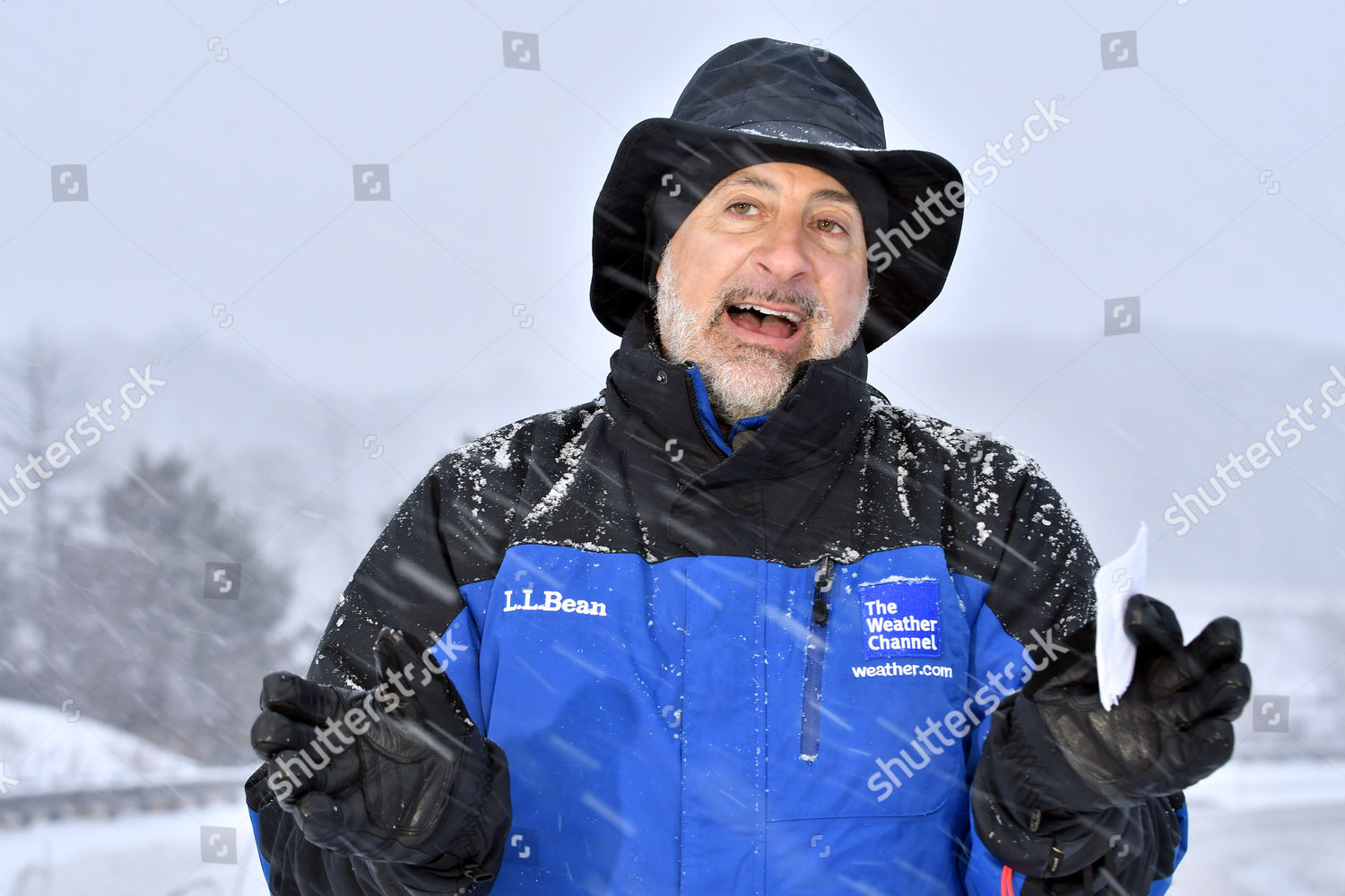 Weather Channels Jim Cantore reporting live coverage