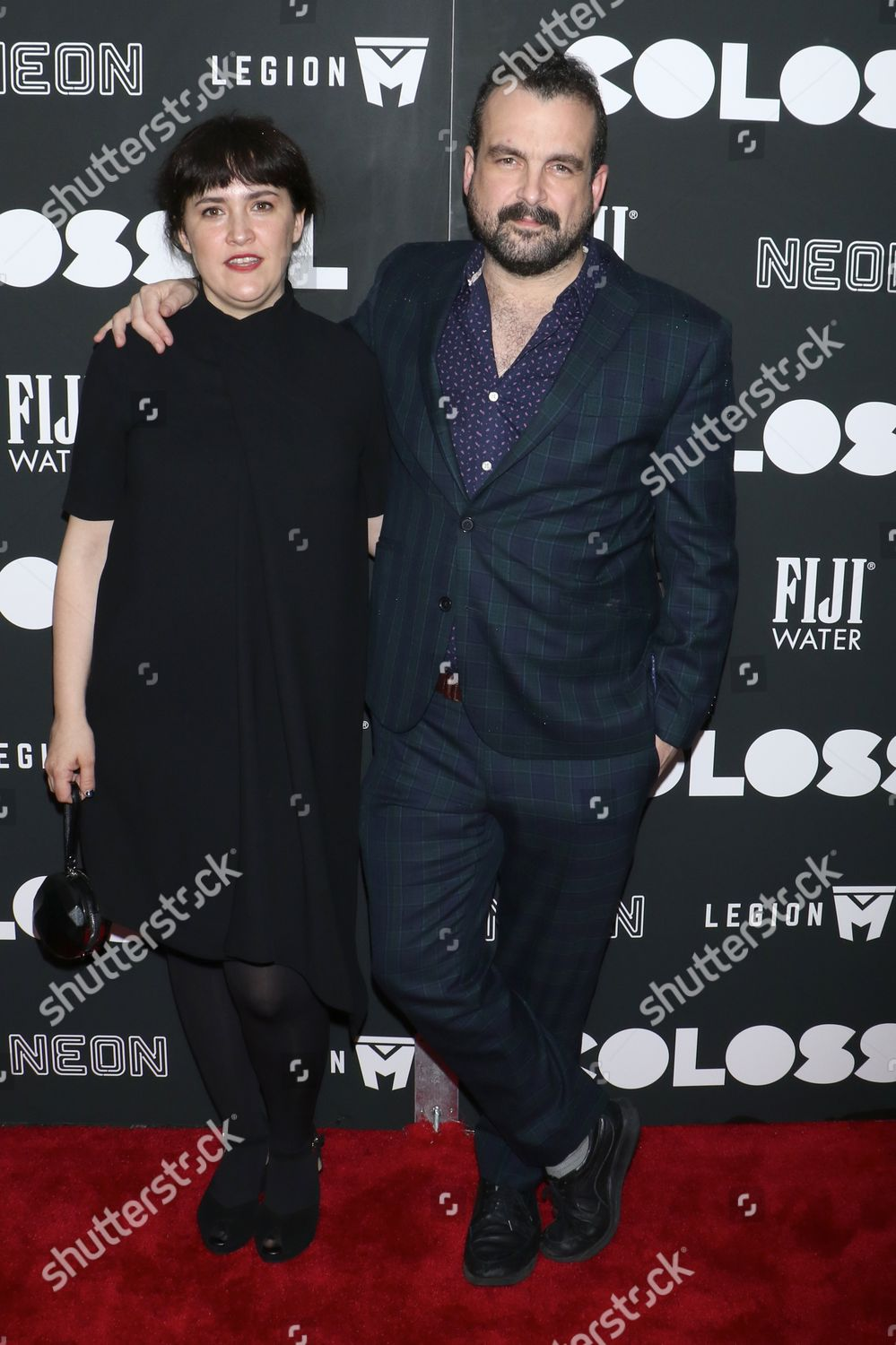 Stock photo of 'Colossal' film premiere, New York, USA - 28 Mar 2017