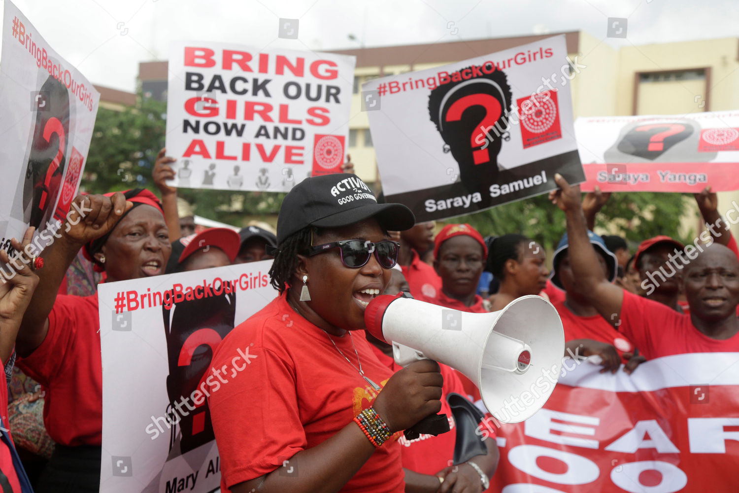 Bring back our girls campaigners chant slogans Editorial Stock Photo
