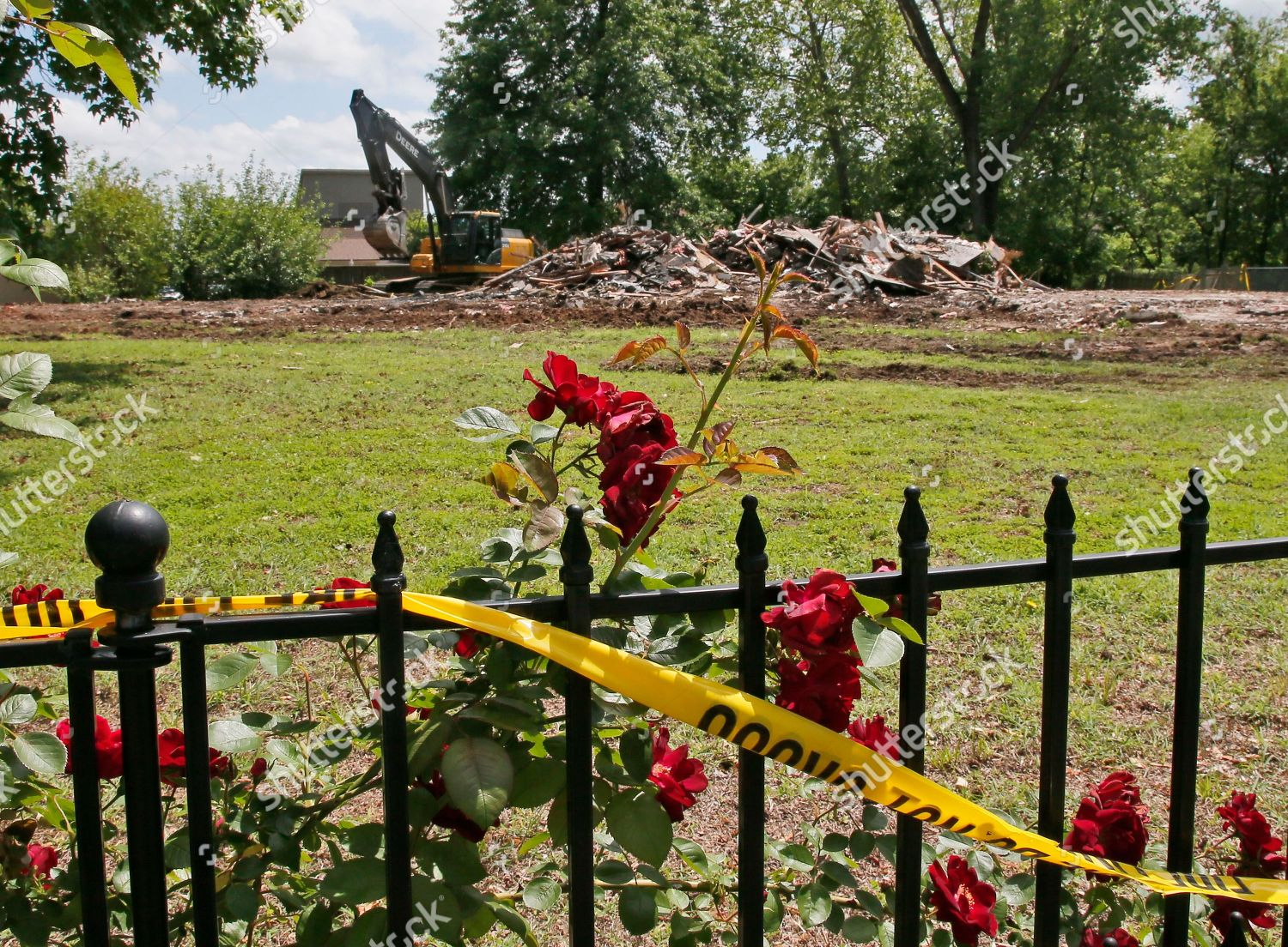 Bever family home site murders five family Editorial Stock