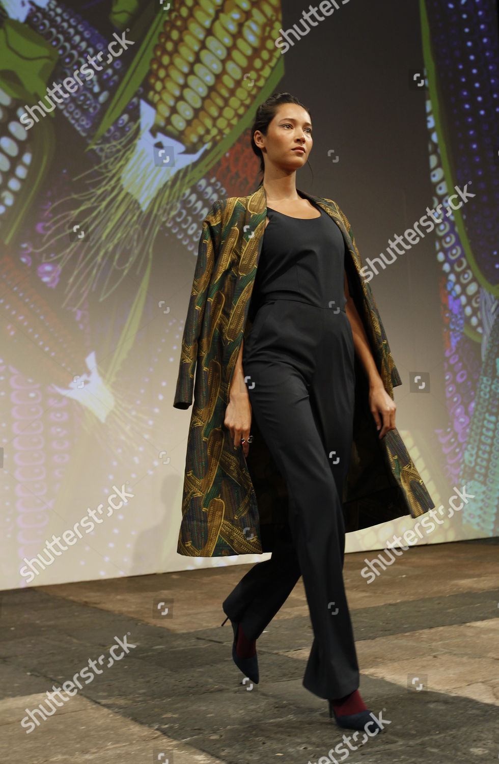 Model Presents Creation By Mexican Designers Cristina Editorial Stock Photo Stock Image Shutterstock