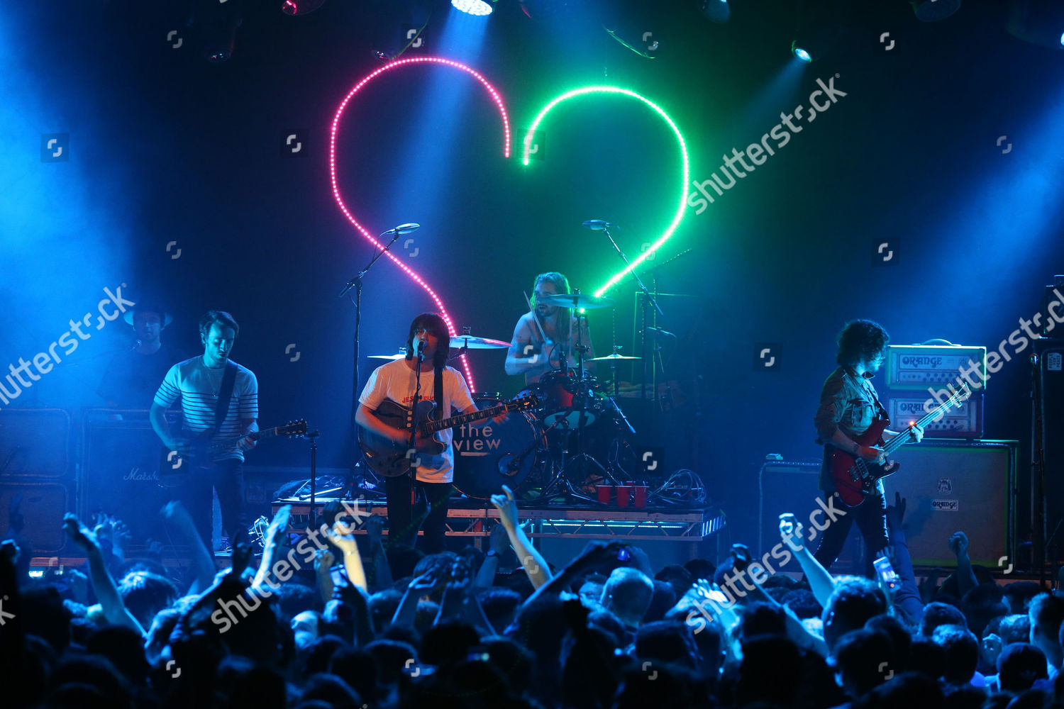 Stock photo of The View in concert at The Glasgow Barrowland Ballroom, Scotland, UK - 04 May 2017