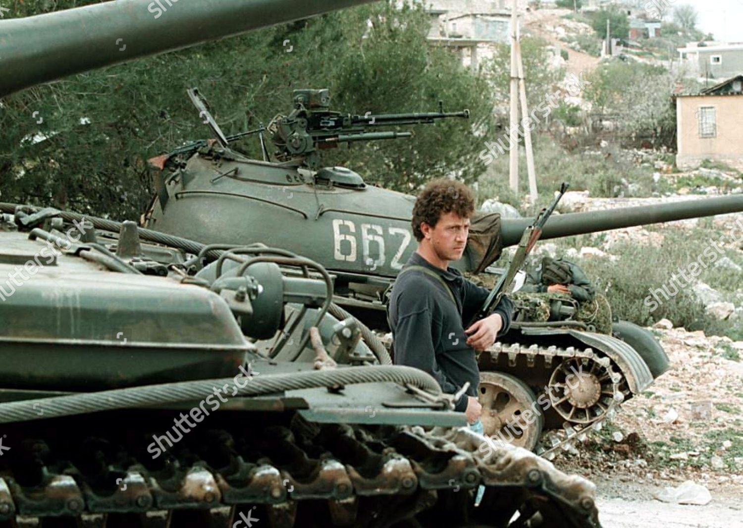 Armed Rebel Stands Guard Between Two T55 Editorial Stock Photo - Stock  Image | Shutterstock