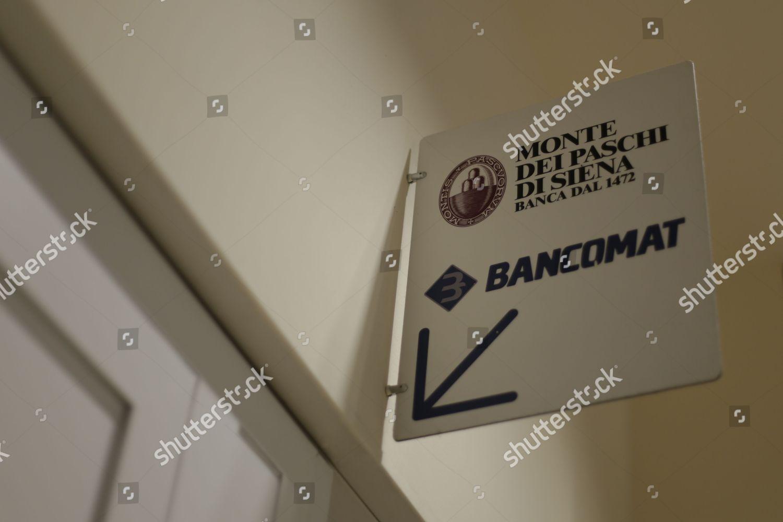 Logo Banca Monte Dei Paschi Di Siena Editorial Stock Photo Stock