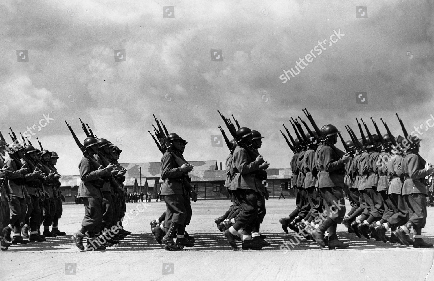French Legion Pictured Marching Past Gaggle Press Editorial