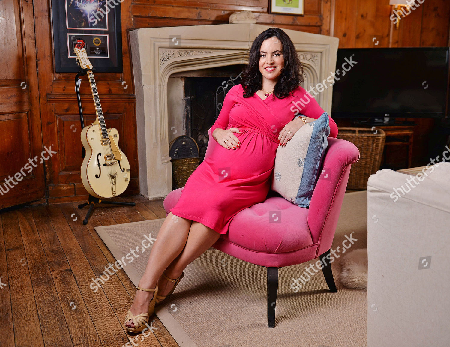 Sally Wood Wife Rolling Stone Guitarist Ronnie Editorial