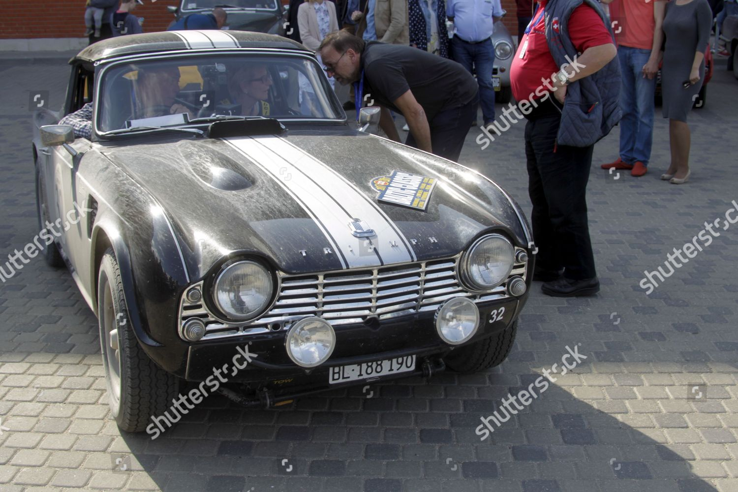 Triumph Tr4 1962 During Baltic Classic Rally Editorial Stock Photo