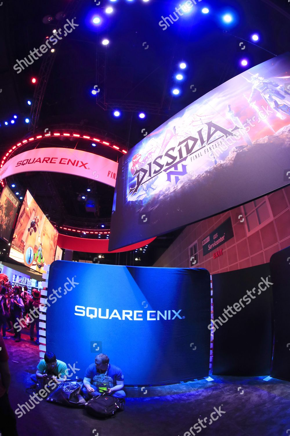 Attendees take rest Square Enix booth on Editorial Stock