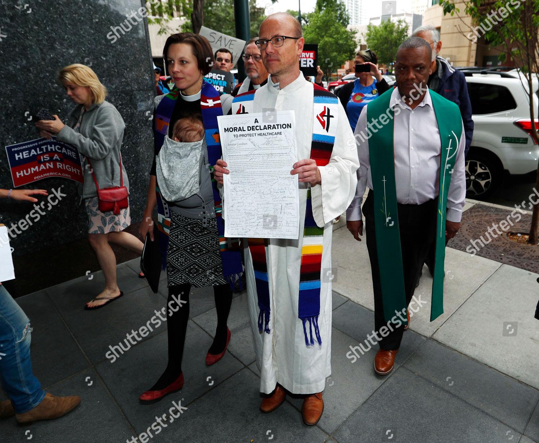 Stock photo of Health Care Bill Protest, Denver, USA - 23 Jun 2017
