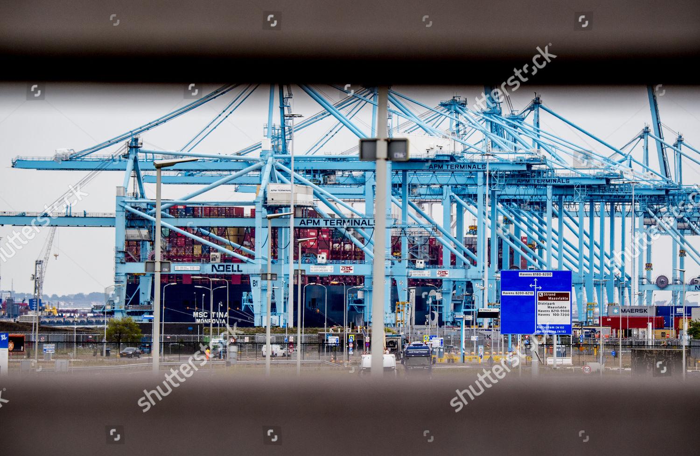 APM Terminals Rotterdam Netherlands Editorial Stock Photo
