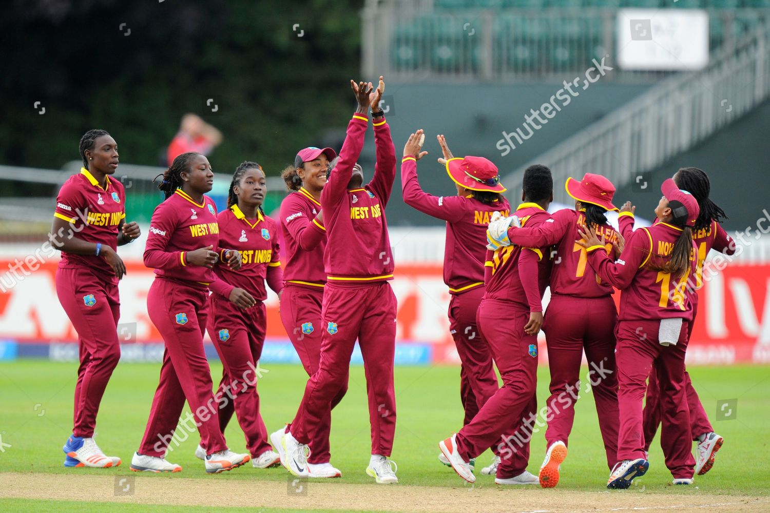 Wicket Shamilia Connell West Indies celebrates taking