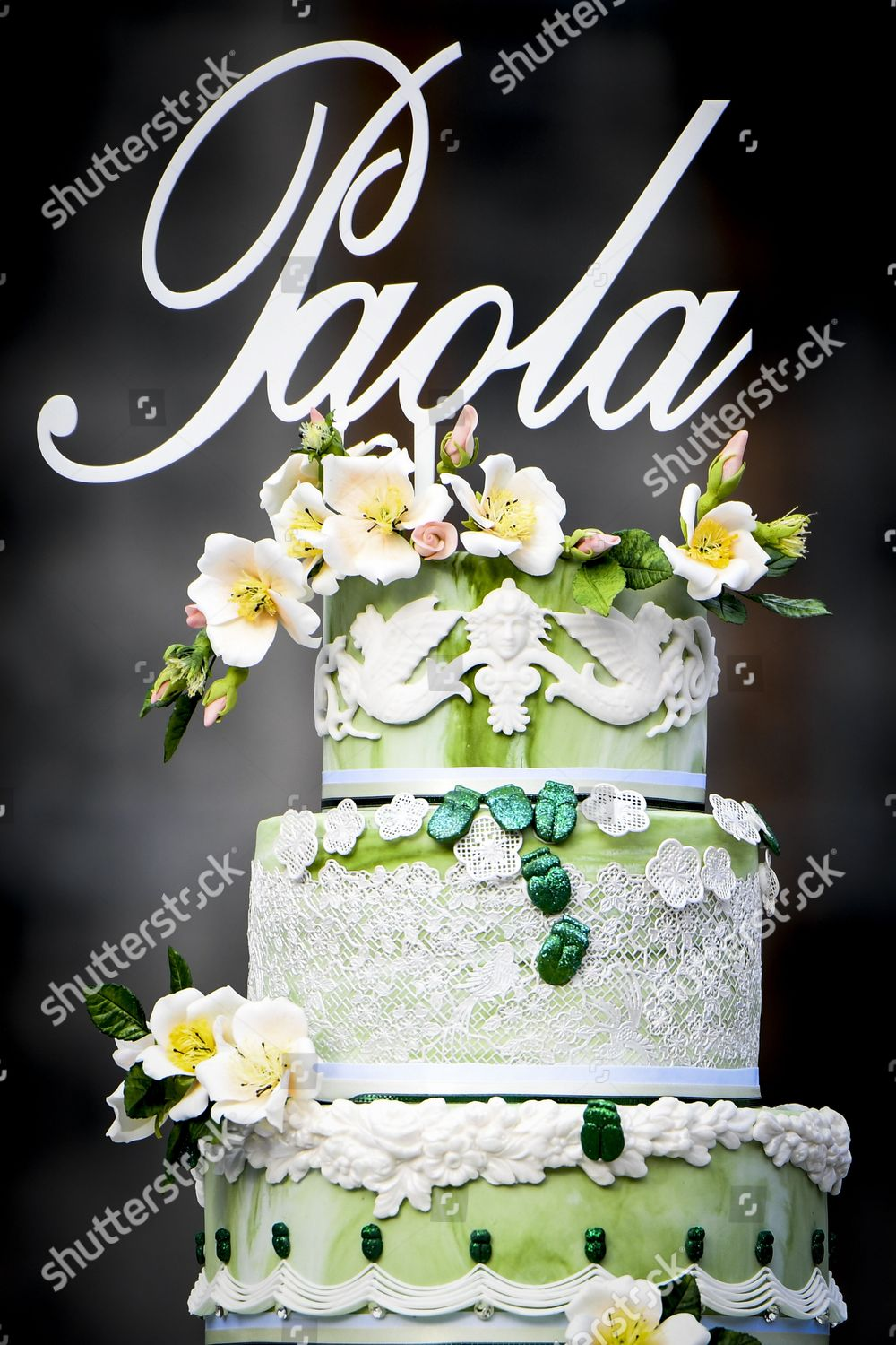 Surprising Queen Paolas Birthday Cake Editorial Stock Photo Stock Image Funny Birthday Cards Online Alyptdamsfinfo
