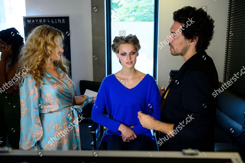 low priced b2987 6c4e9 Doris Entrup Katja Burkard Backstage Editorial Stock Photo ...