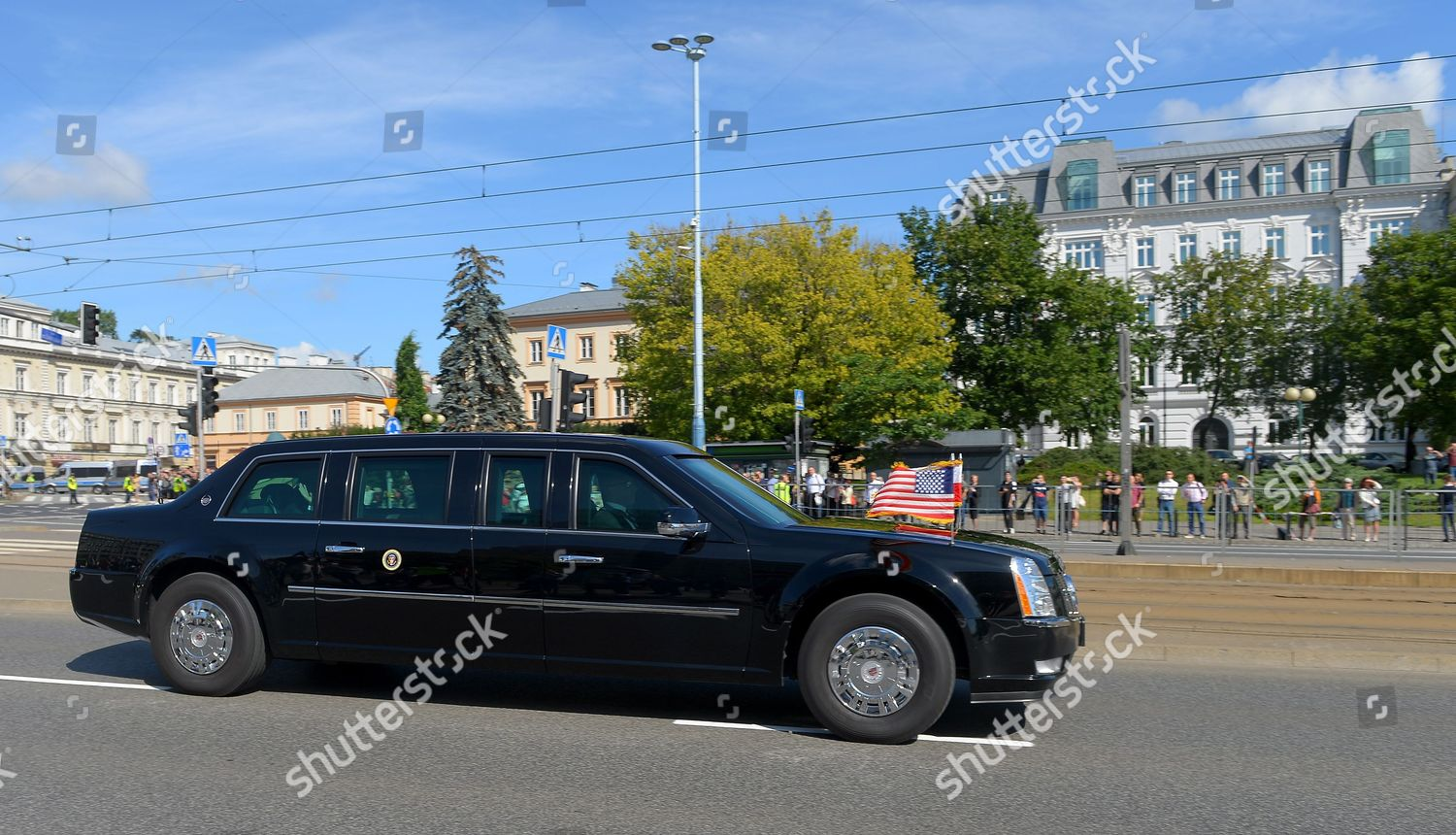 Beast Us Presidential Cadillac One Limousine Carrying Editorial