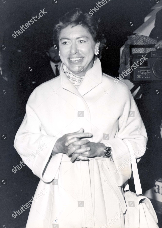 Princess Margaret Returns Her Mustique Holiday Heathrow Editorial