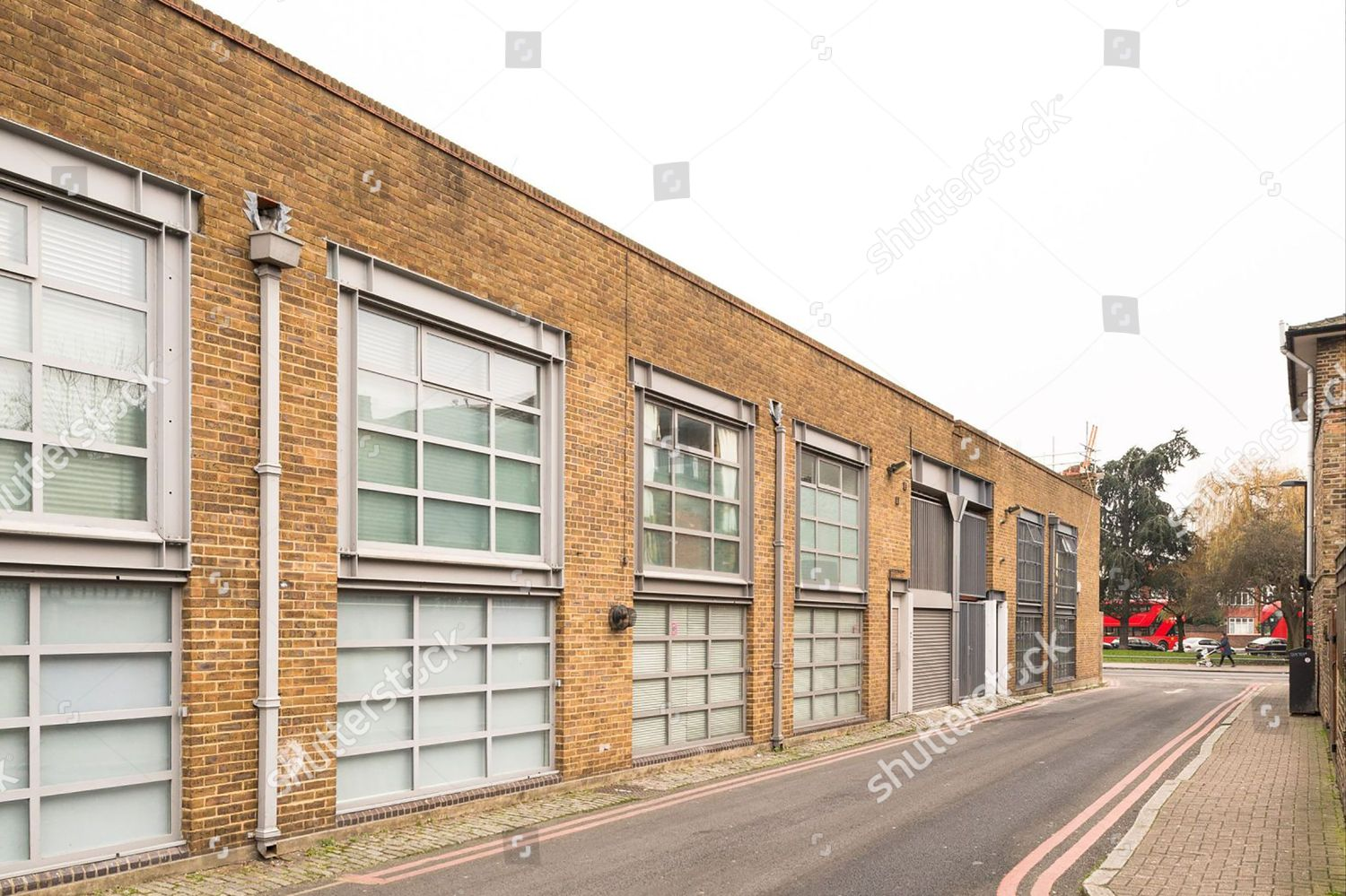 Sale of tram shed turned into a home and given a celebrity makeover london uk jul 2017 stock image by modernhouse for editorial use jul 2017