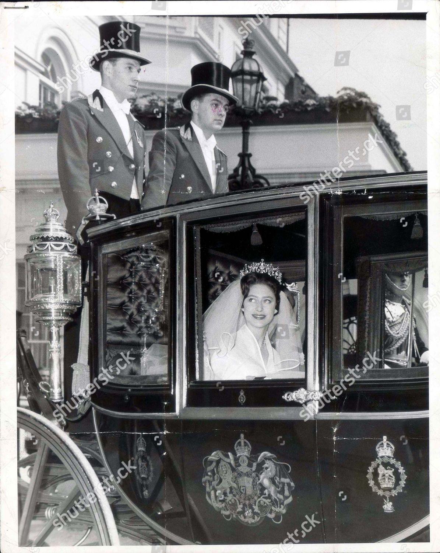 Princess Margaret Lord Snowdon Wedding Day Scenes Editorial Stock