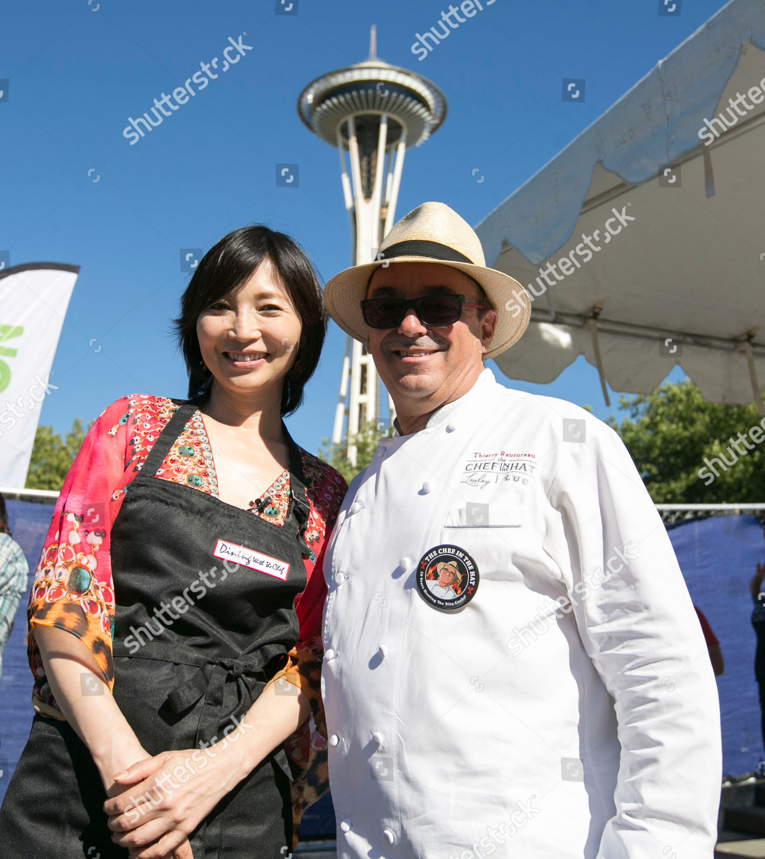 Chef Rika Yukimasa host NHK WORLD TVs Editorial Stock Photo