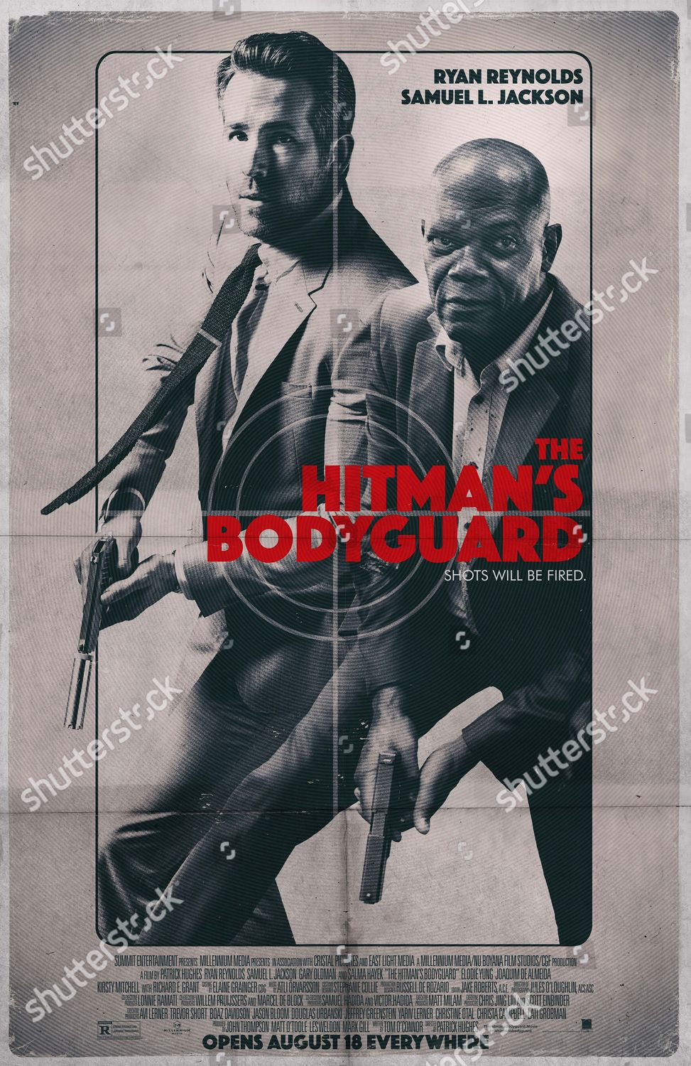 Hitmans Bodyguard 2017 Poster Art Ryan Reynolds Editorial Stock Photo Stock Image Shutterstock