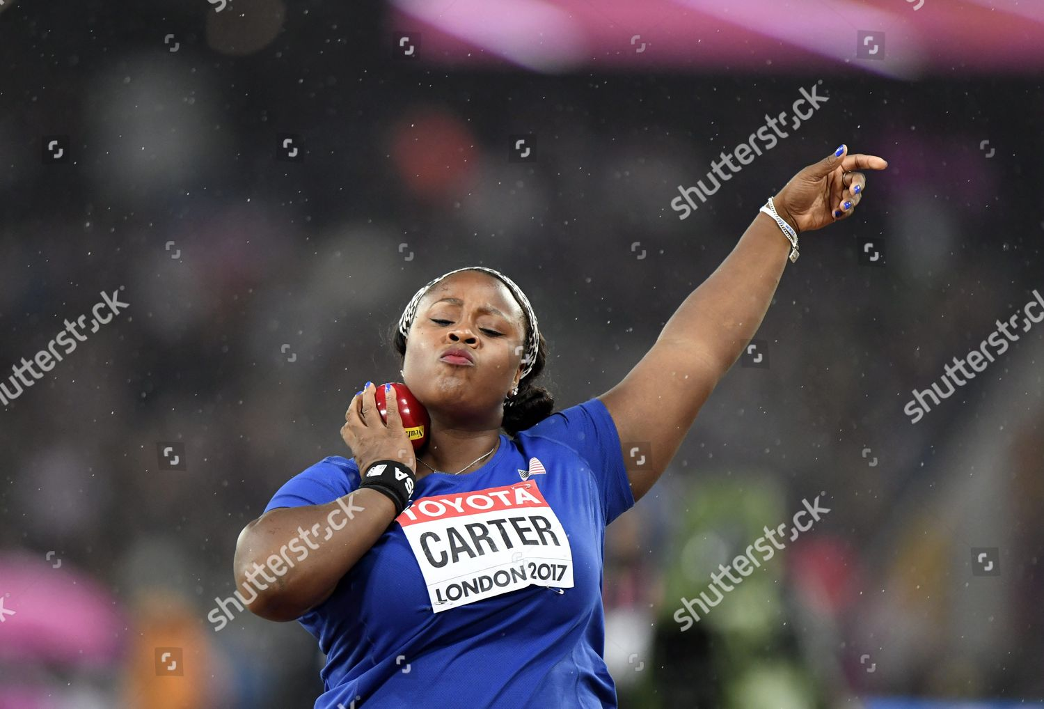 Michelle Carter Athlete >> Michelle Carter Usa Competes During Womens Shot Editorial