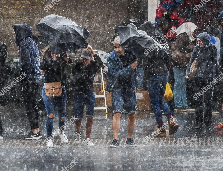 Stock photo of Seasonal weather, Westminster, London, UK - 18 Aug 2017