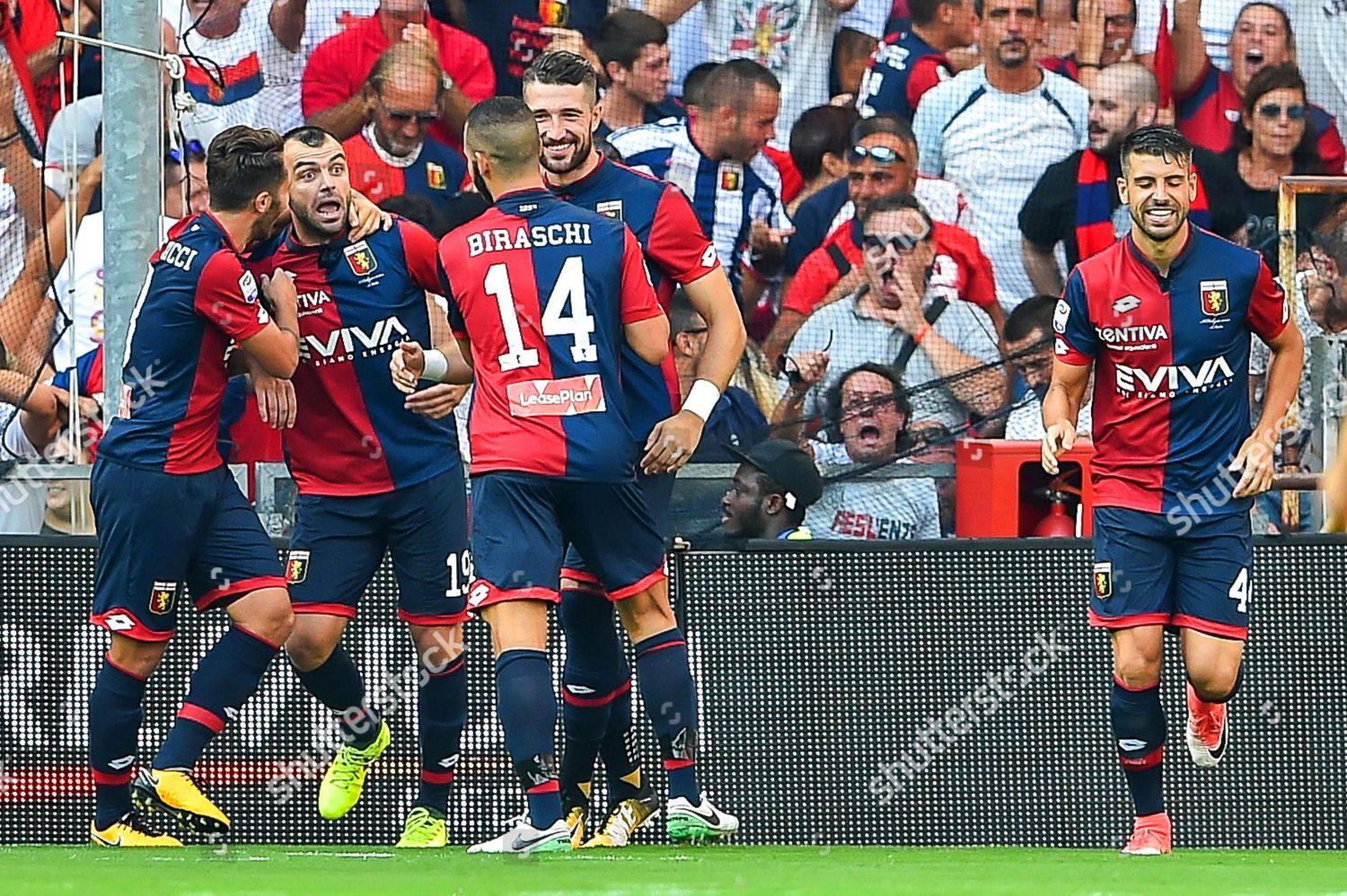 Genoa players celebrate their 10 lead during Editorial Stock Photo - Stock  Image   Shutterstock