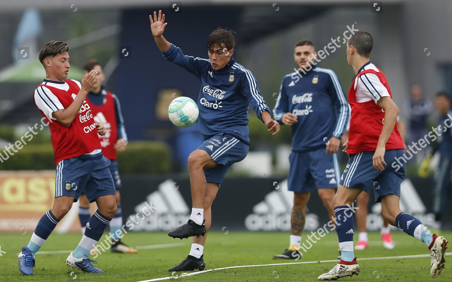 Argentinas player Paulo Dybala C action during Editorial