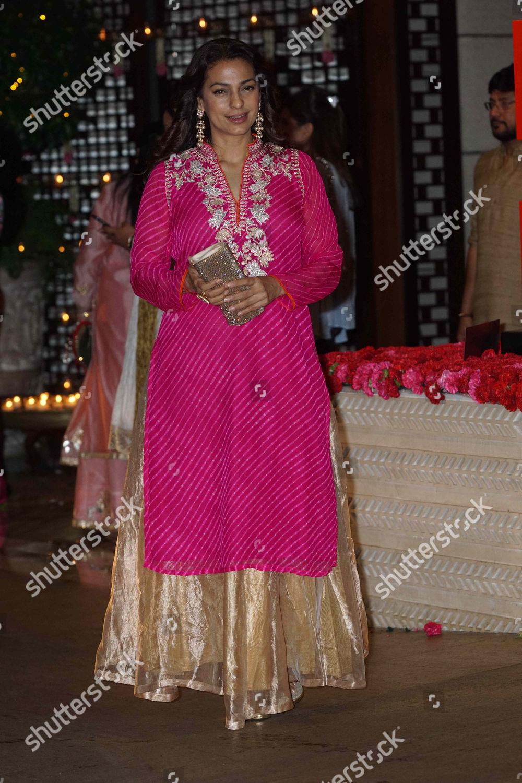 Bollywood actor Juhi Chawla during Ganesh Puja Editorial