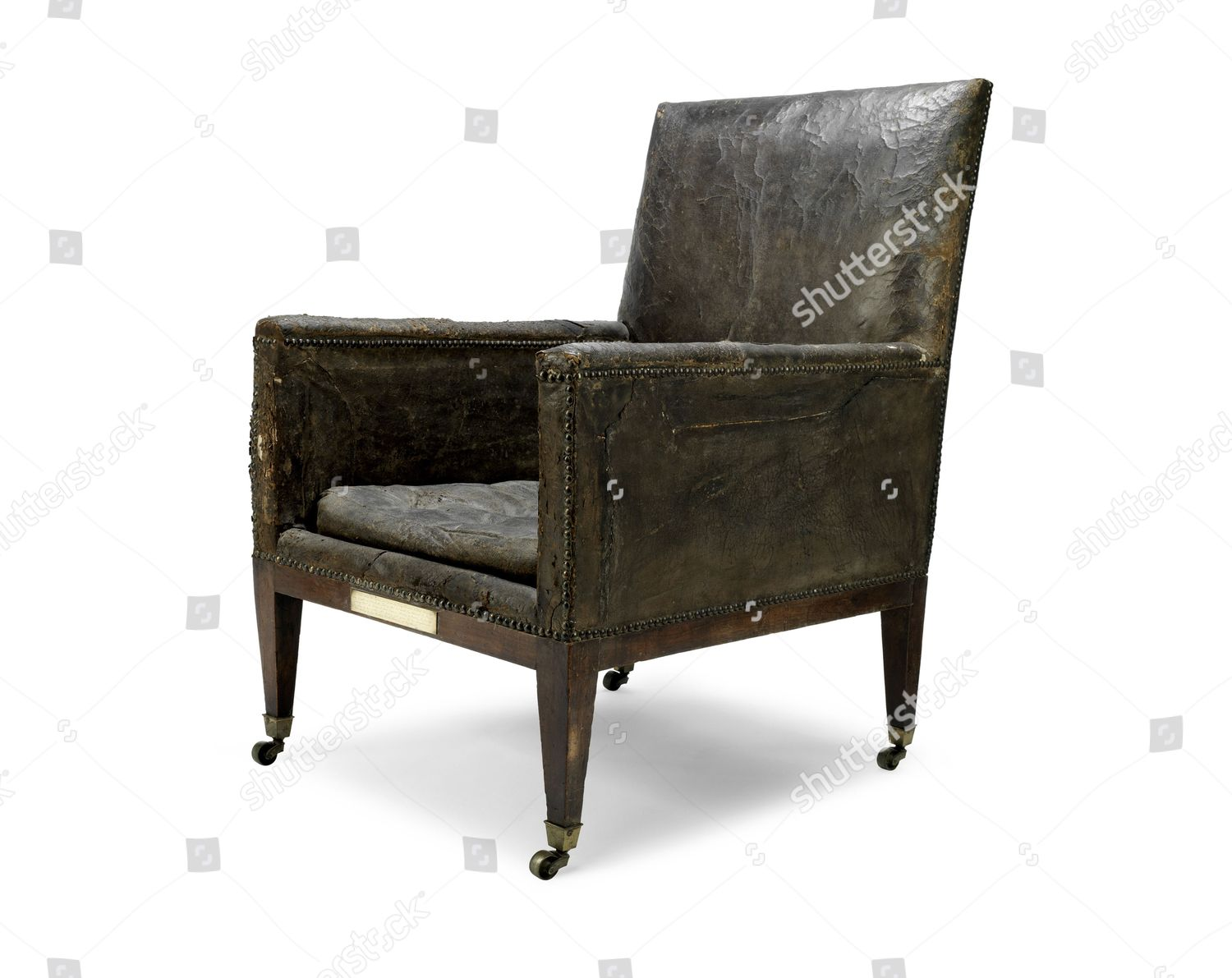 Lord Nelsons Leather Armchair Editorial Stock Photo Stock Image