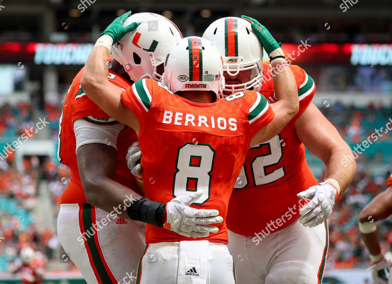 check out 9c59a 595dc Miami Hurricanes wide receiver Braxton Berrios 8 Editorial ...