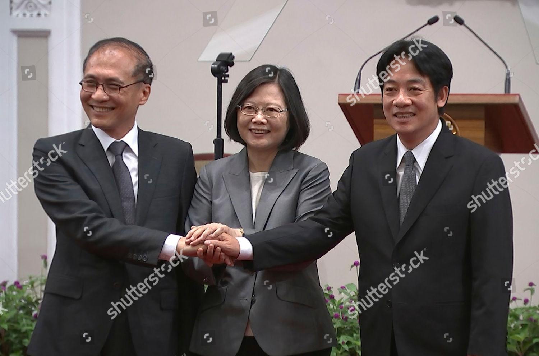 William Lai Tsai Ingwen Lin Chuan Taiwans Editorial Stock Photo