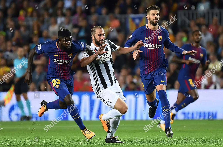 Marcelo Higuain Juventus Fc Samuel Umtiti Gerard Editorial Stock Photo Stock Image Shutterstock