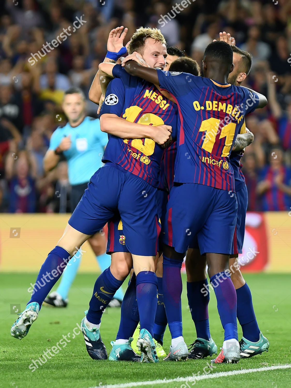 Ivan Rakitic Fc Barcelona Celebrates His Goal Editorial Stock Photo Stock Image Shutterstock