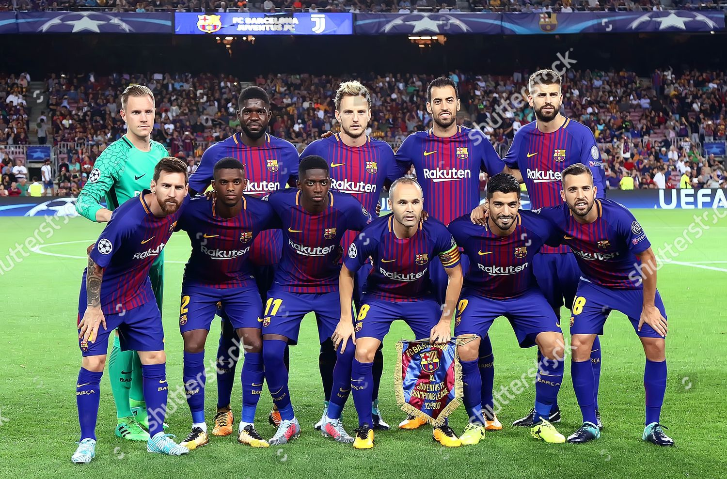 Fc Barcelona Team Group Editorial Stock Photo Stock Image Shutterstock