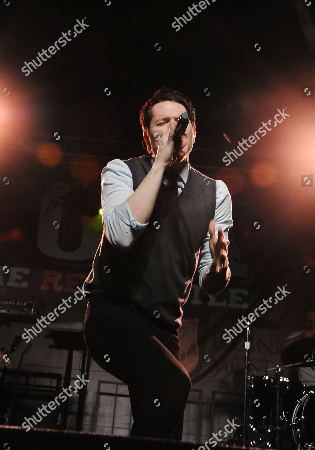 Adam Young Owl City Performs Rock Red Stock Photo 9054632ao