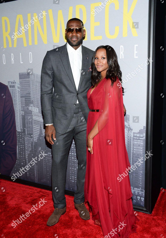 ba8aa52b10ee LeBron James wife Savannah Brinson attend world Editorial Stock ...