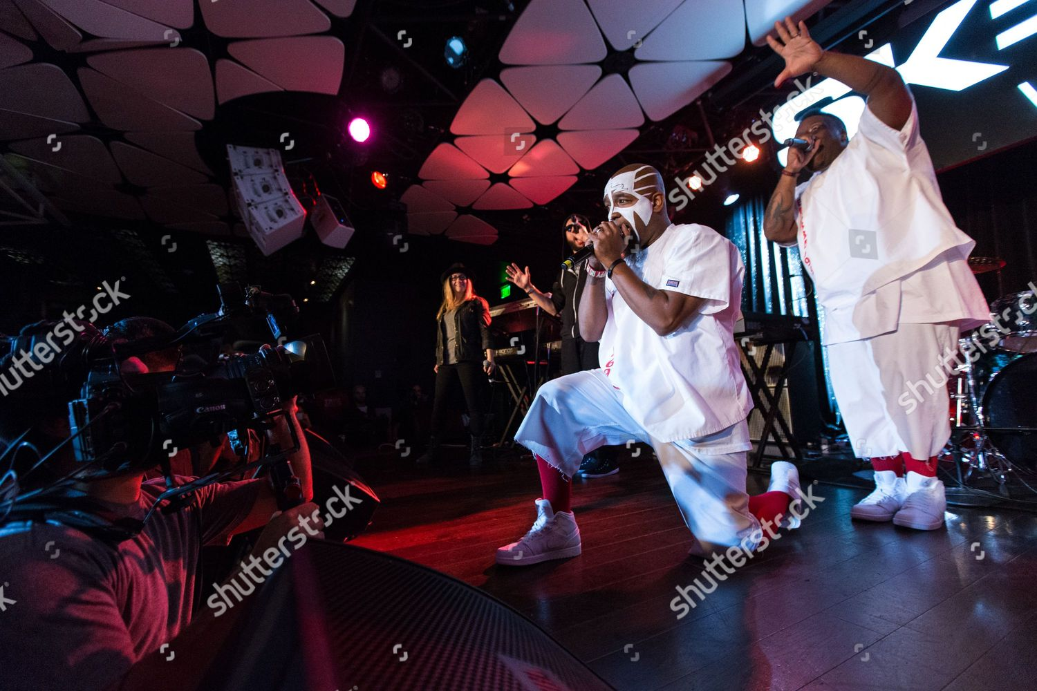 Krizz Kaliko Tech N9ne L perform on Editorial Stock Photo