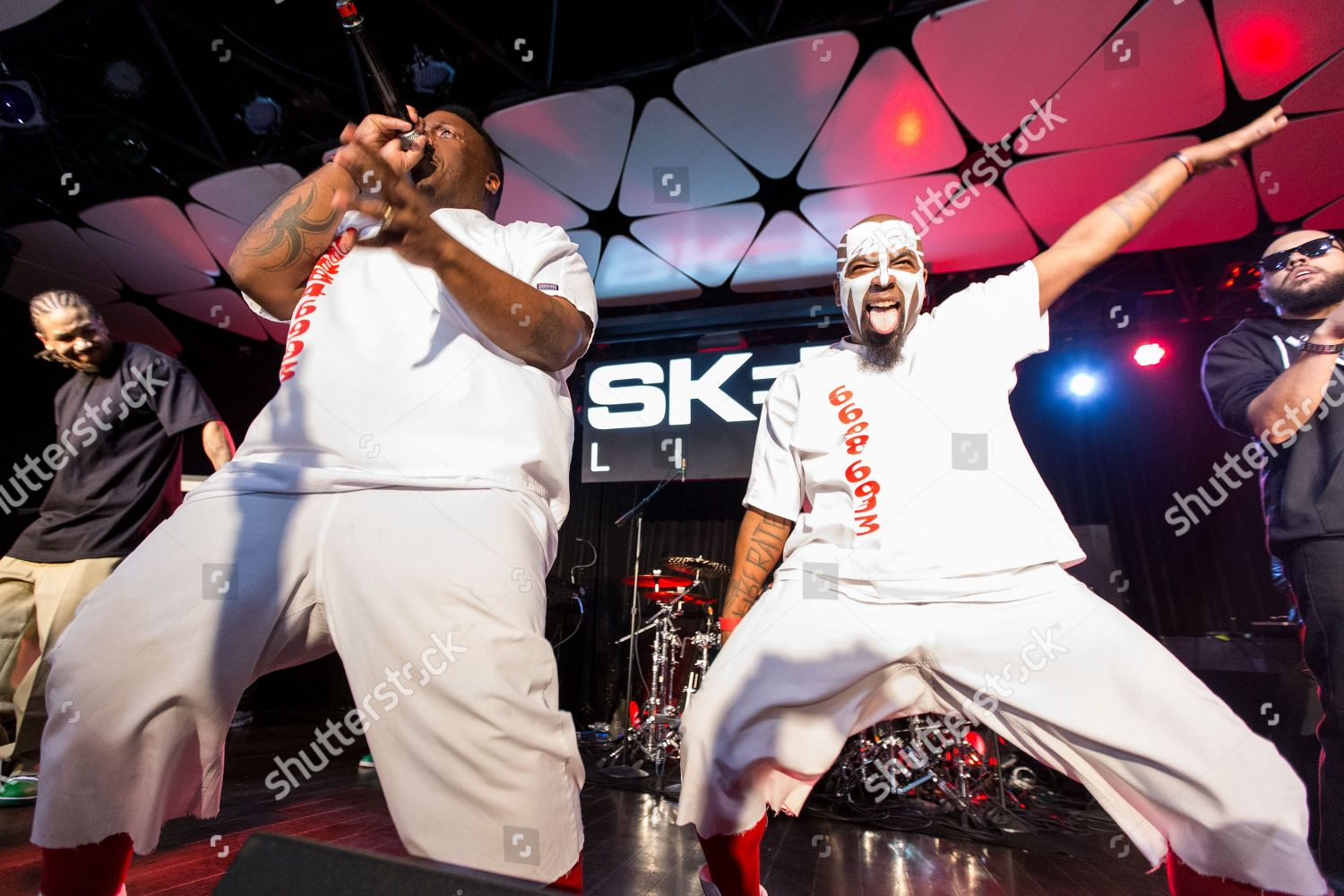 Krizz Kaliko L Tech N9ne perform on Editorial Stock Photo