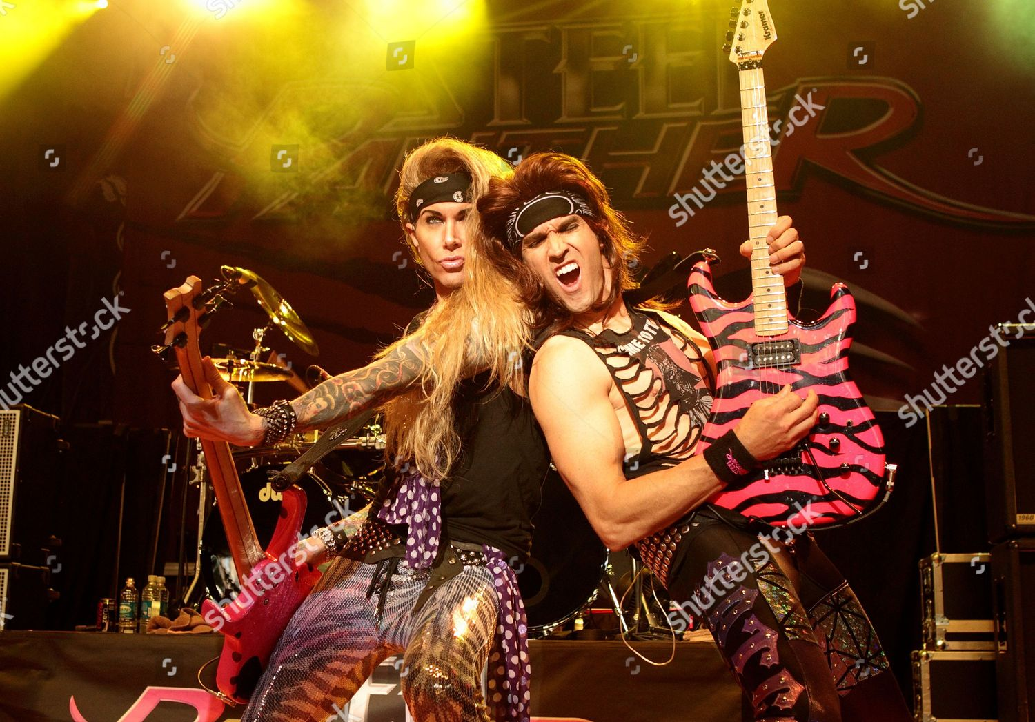 Glam metal band Steel Panther performs M3 Editorial Stock
