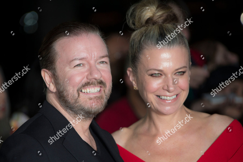 c2fc7f0f66 Actor Ricky Gervais partner partner Jane Fallon Editorial Stock ...