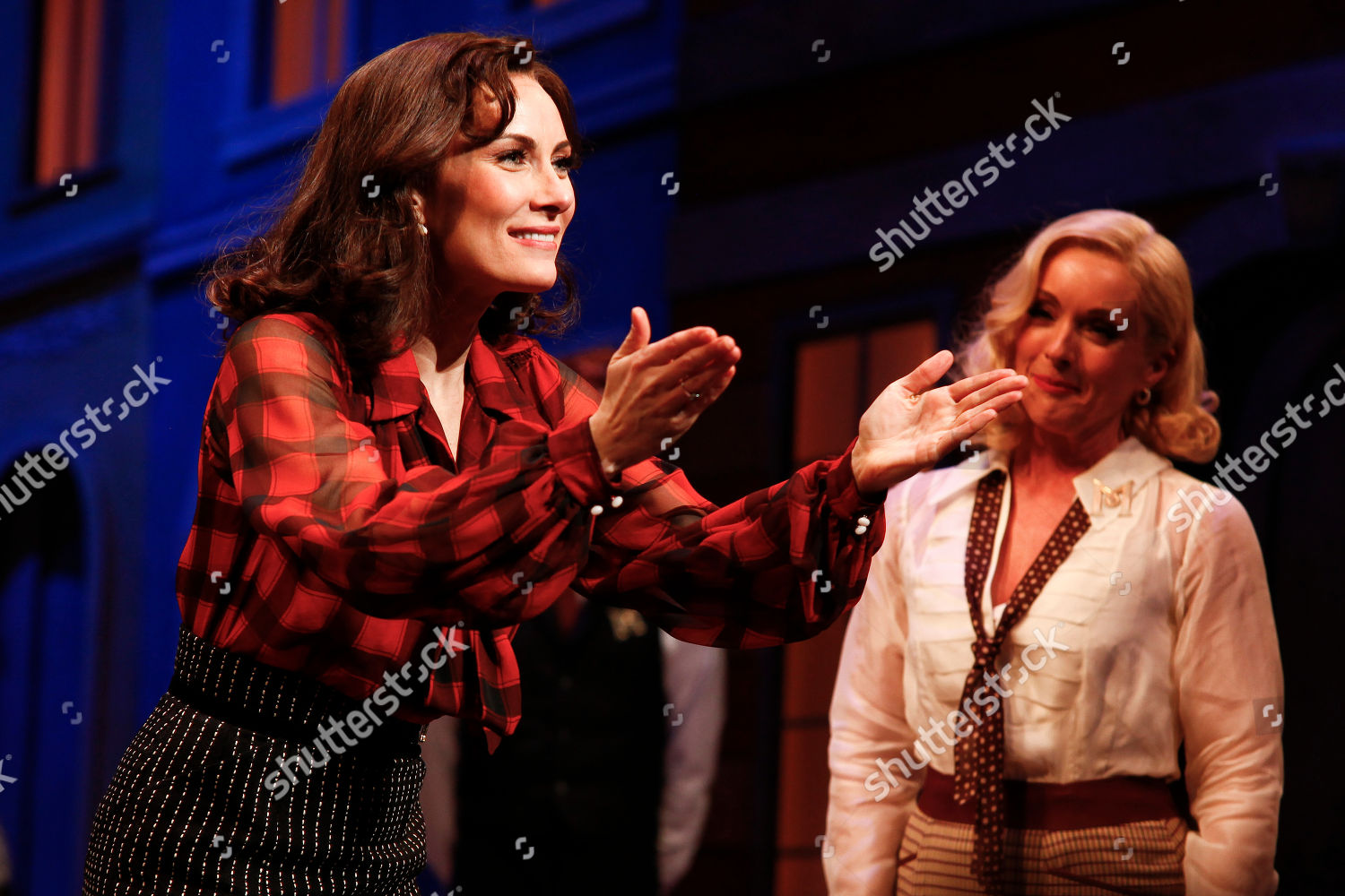 Laura Benanti Left Jane Krakowski Right Attend Editorial Stock Photo Stock Image Shutterstock