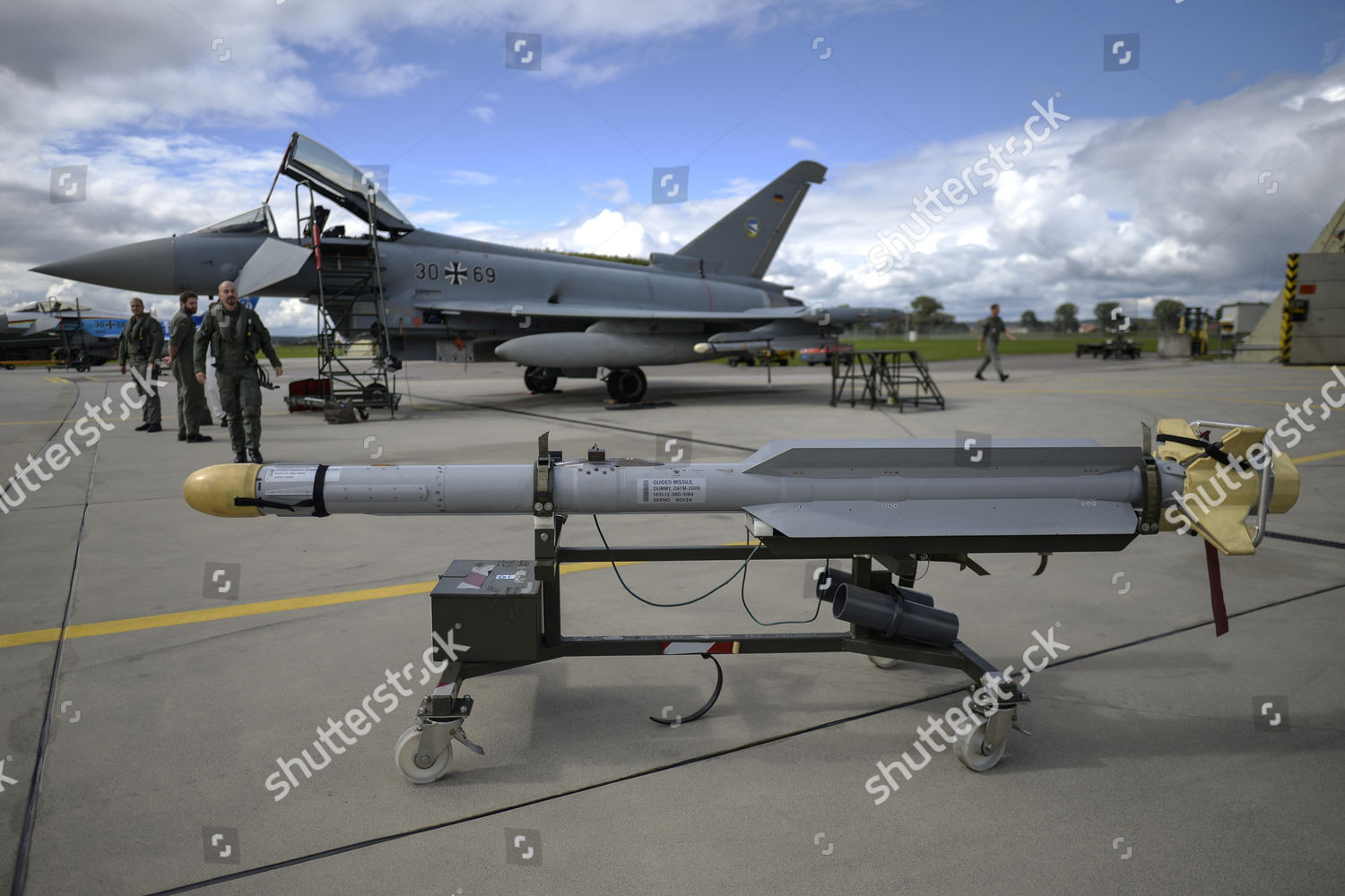 dummy IRIST airtoair missile displayed front Eurofighter Editorial