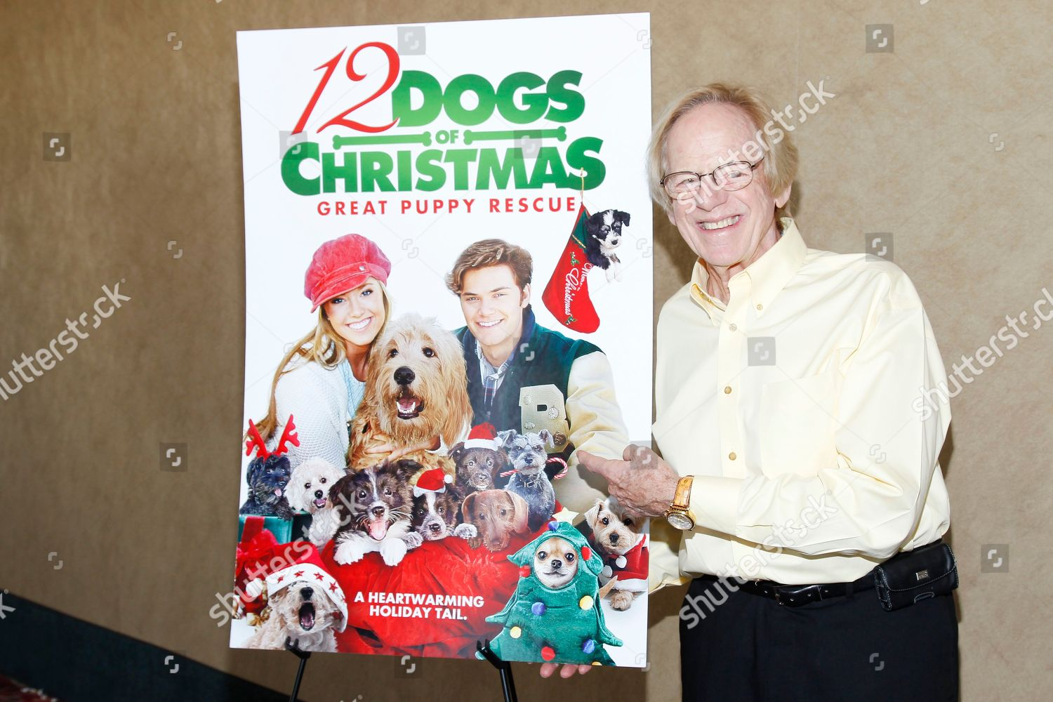 12 Dogs Of Christmas.Producer Ken Kragen Seen 12 Dogs Christmas Editorial Stock