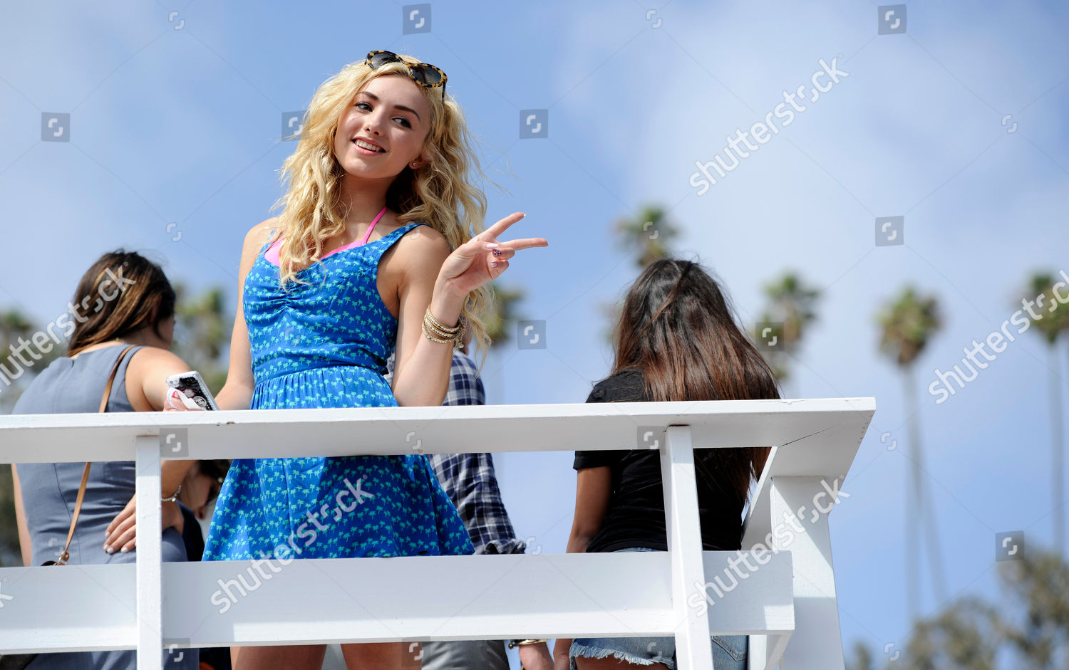 Actress Peyton List poses photographers during singer