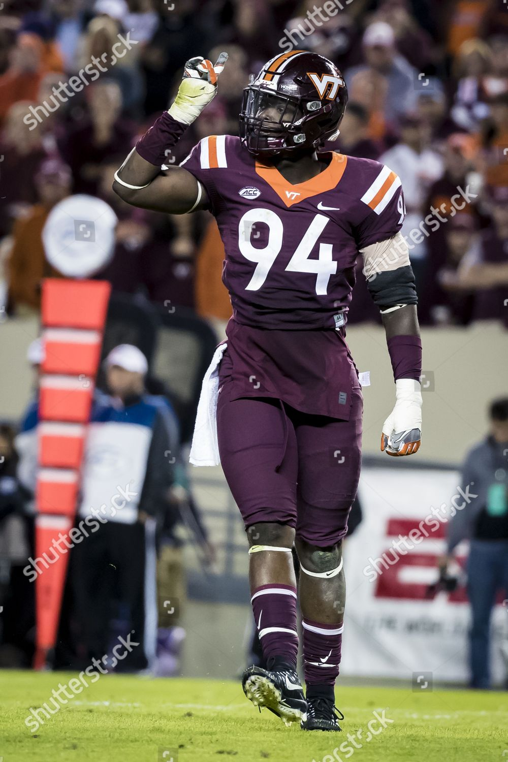 Virginia Tech Hokies Defensive End Trevon Hill Editorial