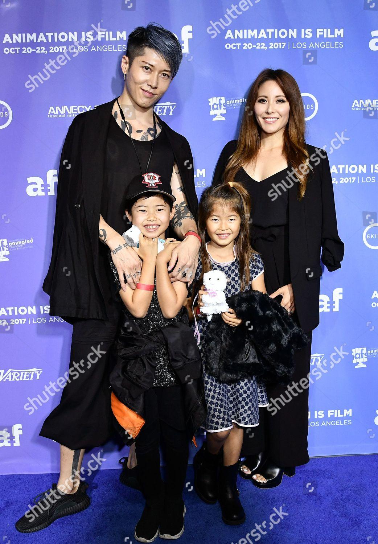 Miyavi Ishihara Melody Ishikawa Their Children Editorial Stock Photo