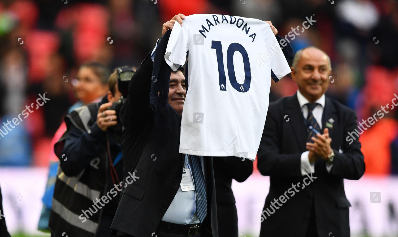 Diego Maradona Tottenham Shirt Half Time Editorial Stock Photo Stock Image Shutterstock
