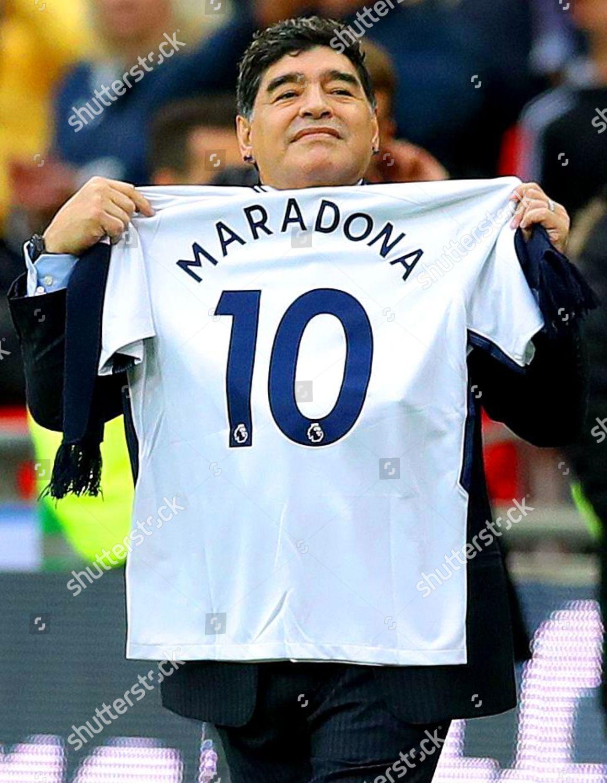 Diego Maradona Tottenham Shirt His Name On Editorial Stock Photo Stock Image Shutterstock