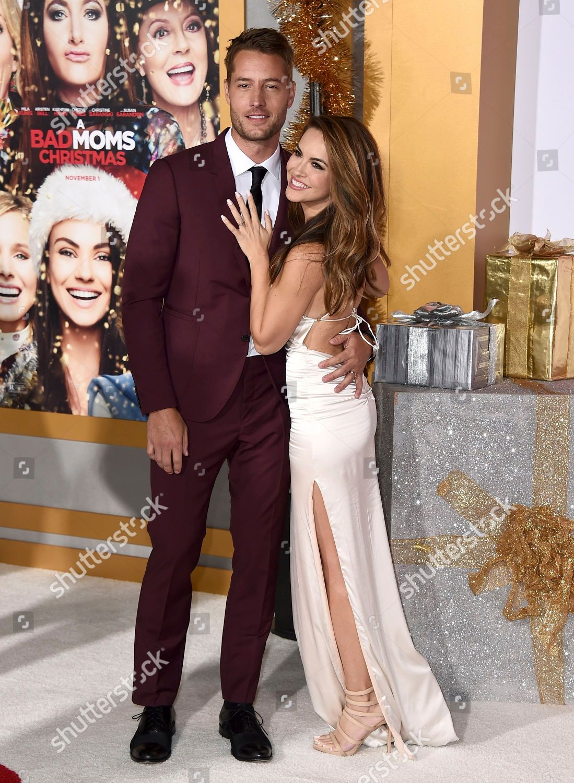 A Bad Moms Christmas Justin Hartley.Justin Hartley Chrishell Stause Justin Hartley Left