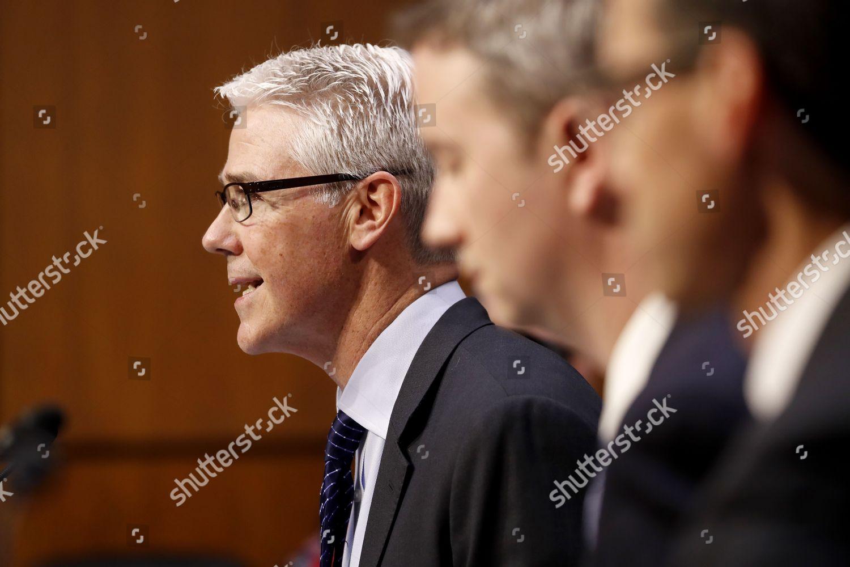 Colin Stretch L general counsel Facebook testifies Editorial Stock